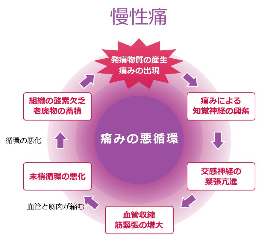 慢性痛 痛みの悪循環図